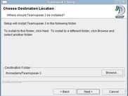 Teamspeak 3 Linux Installer - Install Folder