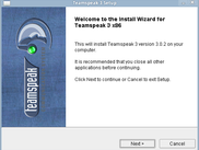 Teamspeak 3 Linux Installer - Start