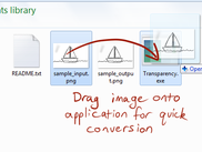Drag onto application for quick conversion