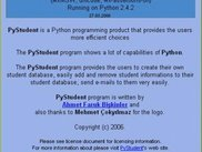 PyStudent About GUI