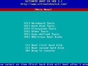 Ultimate Boot CD Ver 3.1 - Main Menu
