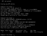 Creating new linux partition and checking disk information