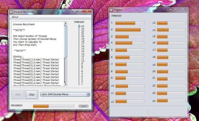 Universe Benchmark screenshot