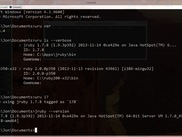 uru mri jruby and win81 cmd.exe