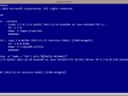 uru mri jruby and win81 powershell