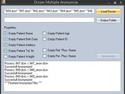 Dicom Multiple Anonymizer interface