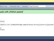 Screenshot of result infromation of unit test