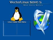 Vector Linux SOHO 5 graphical lilo boot screen