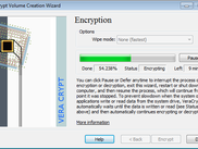System partition being encrypted on the fly