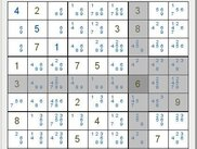 VG Sudoku with candidates and selected row / col / box