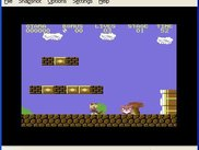 Giana sisters running on the emulated C64