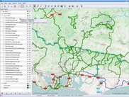 Cycle Map (OSM) with many MTB Tracks in the south of the UK