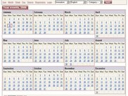 VCalendar - Yearly View