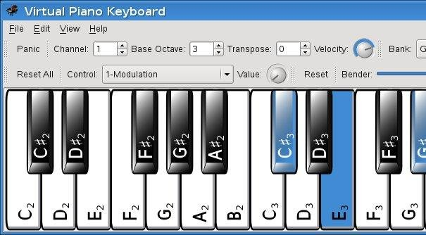 VMPK 0.3.0 showing note names