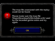 Basic problem: Warcraft 3 can't find the map