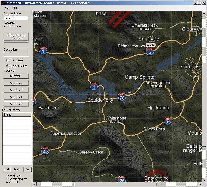 Infestation - Survivor Map Location