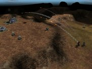 Mini-Rocket Array, Rocket Assault Array, and Seraph Missile Array Cyborgs attacking an enemy base from afar.
