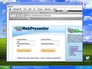 WebPresenter.ca viewing a presentation hosted on a Mac.
