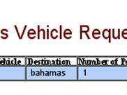 View of a User's Current Vehicle Requests