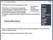 WiKissMe wiki content management system - home page