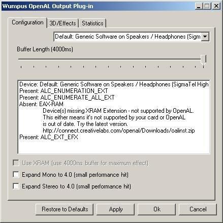 Winamp OpenAL 0.9.6, Shot 1