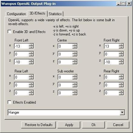 Winamp OpenAL 0.9.6, Shot 2