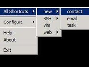 Wincito shortcuts menu