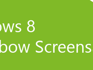 Windows 8 Rainbow Screensaver - banner