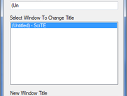 Windows Title Changer - Main Window