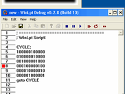 WndLpt - Playing the Script with Debug window