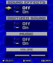 Spear of Destiny sound menu