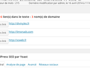 plugin wordpress link infos