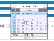 Write Post > Event Editor, Popup calendar (3.1._pre16)