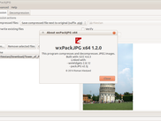 wxPackJPG 1.2 running on Ubuntu/Gnome