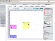Week view of a user in the shared agenda (Web 1.0)