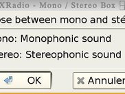 XDRadio mono-stereo window