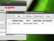 xLights menu on Linux