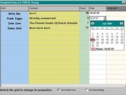 Form cell editor with calendar