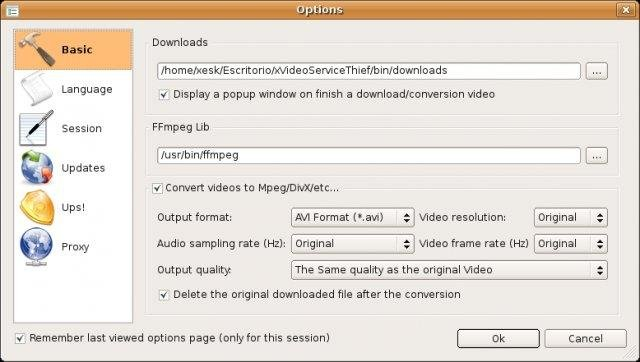 Options (Ubuntu 7.10 (Gutsy Gibbon))