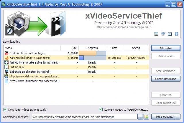Downloading Video (Windows XP & Royale theme)