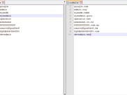 Wordlist Examples - Left is without TLD's and Right is with TLD's