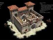 4) Roman Fort: One of the highly detailed buildings ingame