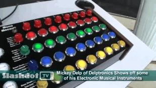 Mickey Delp Makes 'Walk Up and Play' Electronic Instruments (Video)