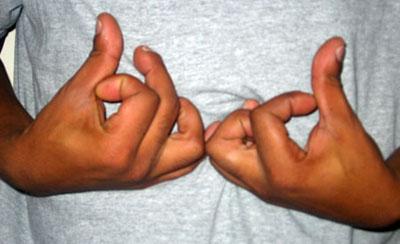 East coast hand sign gang