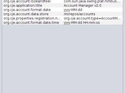 Account Manager v2.0 properties editor
