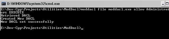 ModDACL Sample Output