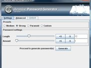 Screenshot of Aconiac Password Generator v.1.1