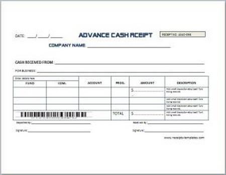 Advance cash receipt download sourceforge advance cash receipt format thecheapjerseys Image collections