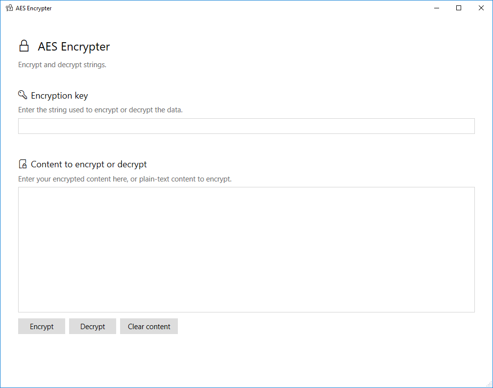 AES Encrypter download | SourceForge net