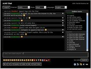 AJAX Chat - black style - showing the online users list
